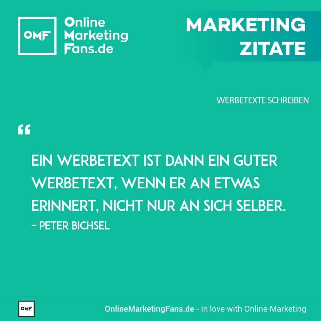 Marketingzitate - Peter Bichsel - Guter Werbetext - Copywriting Werbetexte
