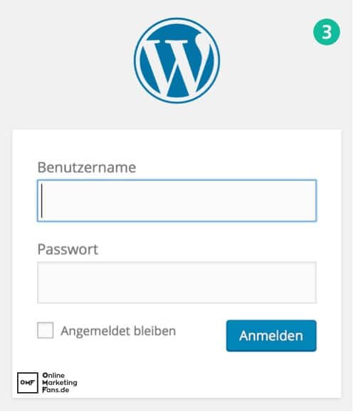 FTP Plugin installation WordPress Tutorial - Login Anmeldung WordPress