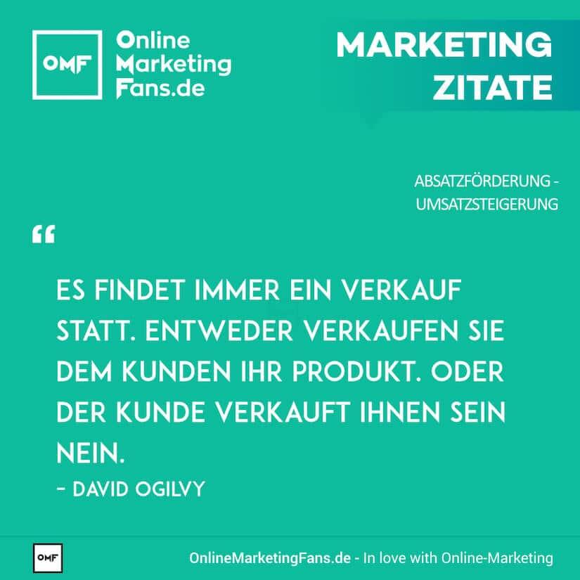 Marketing Zitate - David Ogilvy - Zwei Arten des Verkaufs - Umsatz steigern