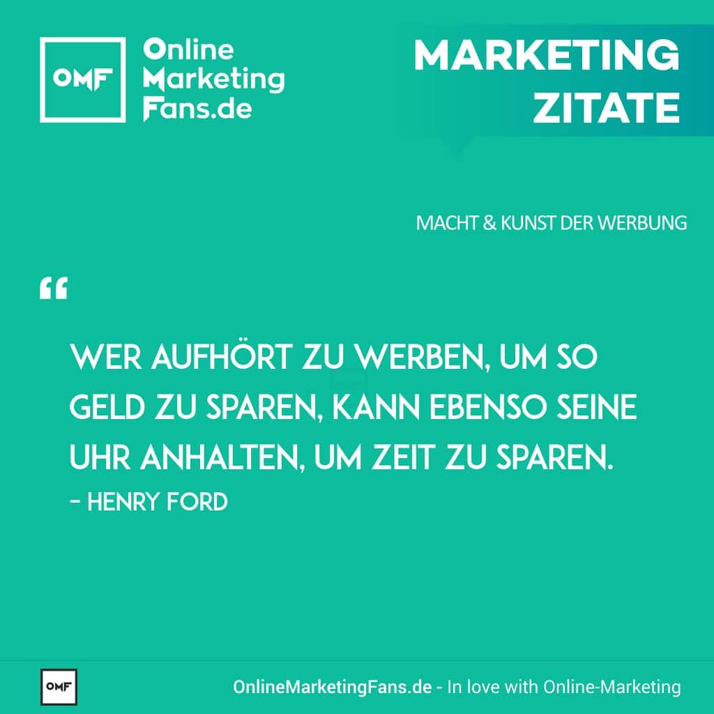 Marketing Zitate Sprueche - Fred Rodrigues - Werbung Geld vs. Uhr Zeit - Macht der Werbung