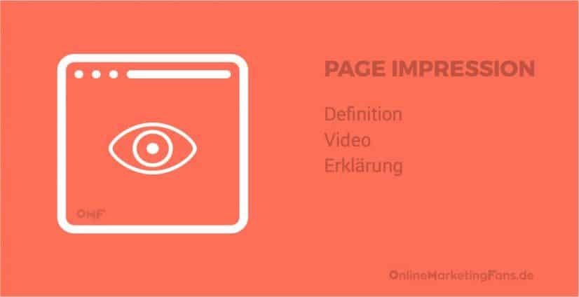 Page Impression - Definition und Erklaerung
