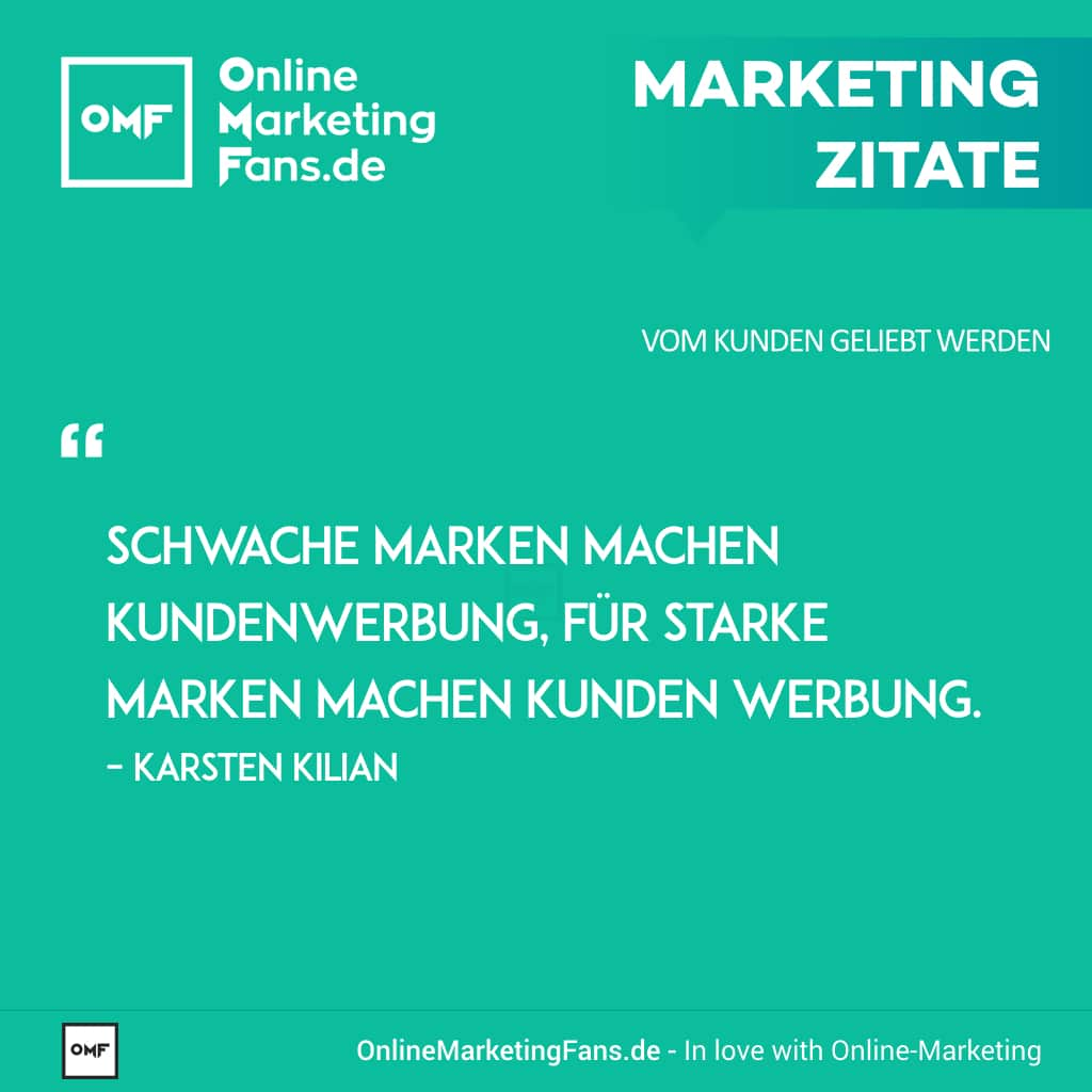 Marketingzitat Karsten Kilian - Marken